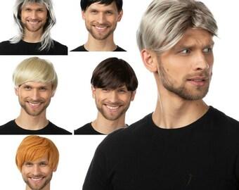 Short Mens Wig Etsy