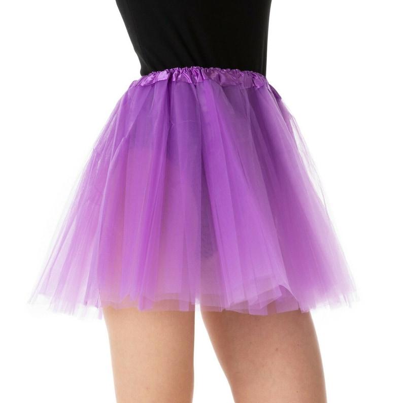 Ladies TUTU Dance Fancy Dress Costume Ladies Skirt Rave 1980s 80 Party Ballet Petticoat