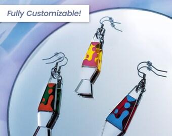 Lava Lamp Earrings | Groovy Earrings | Retro Earrings | 70's Earrings | Hippie Earrings | Statement Earrings | Acrylic Earrings