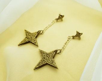 Neverland Star Glitter Stud Earrings | Astrological/Astrology Earrings | Statement Earrings | Acrylic Earrings