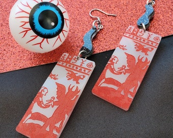 Black Flame Candle Earrings   Halloween Earrings   Alt Earrings   E-Girl Earrings   Punk Earrings   Statement Earrings   Acrylic Earrings