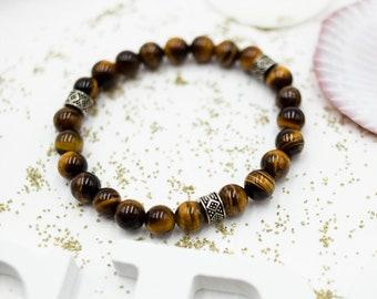 Handmade Gemstone Yellow Tiger/'s Eye with Golden Pyrite Beads Jewelry Women/'s Fashionable Jewelry Birthday Gifts Bohemian Jewelry
