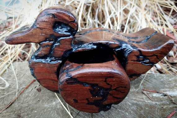 FracturaL Burned Wooden Duck Box