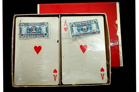 Vintage Tax Stamped Rare Playing Cards