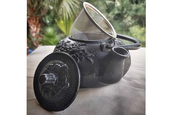 BLack Bamboo Cast Iron Teapot/BLack Teapot