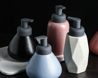 Bathroom Ceramic Hand Soap Bottle Nordic Independent Bottle Foam Lotion Bottle Foam Soap Dispenser Soap Dispenser Pump