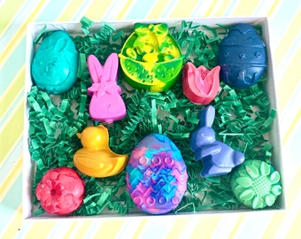 Egg Shaped Crayons Rainbow Egg Crayons in A Carton Crayons Easter Egg Crayon Gift Easter Basket Filler EASTER Egg Crayon Gift for Kids