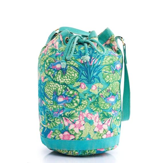 Authentic HERMES Vintage Bucket Bag, Hermes Frog … - image 10