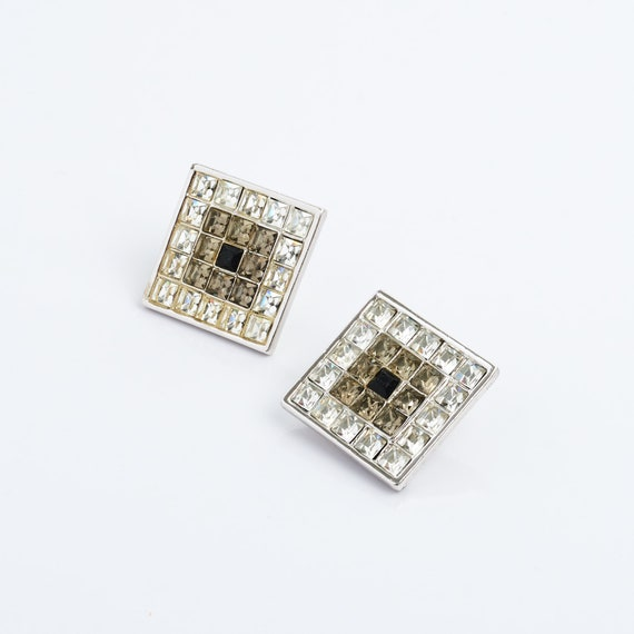 Authentic YSL Earrings, Vintage, Crystal, Yves Sai