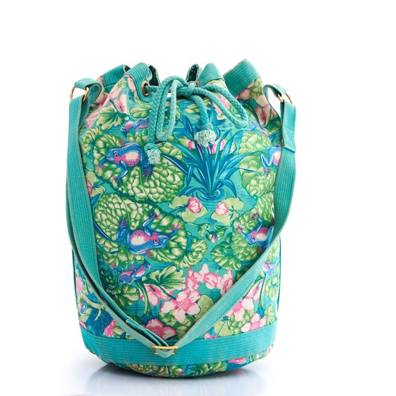 Authentic HERMES Vintage Bucket Bag, Hermes Frog … - image 2
