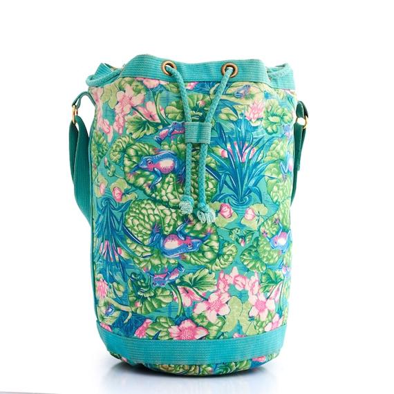 Authentic HERMES Vintage Bucket Bag, Hermes Frog … - image 6