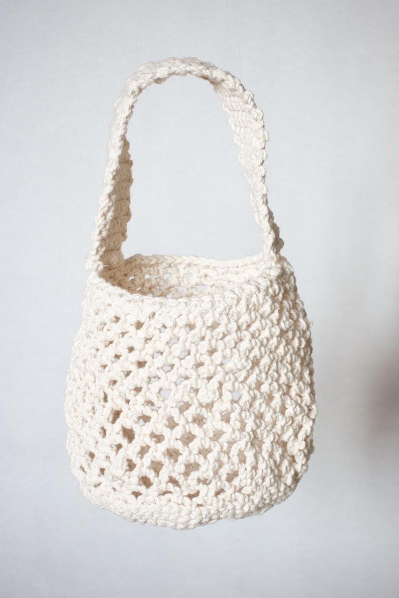 Cotton Knitted Bag  Elegant & Fun Summer Bag Handwoven image 0