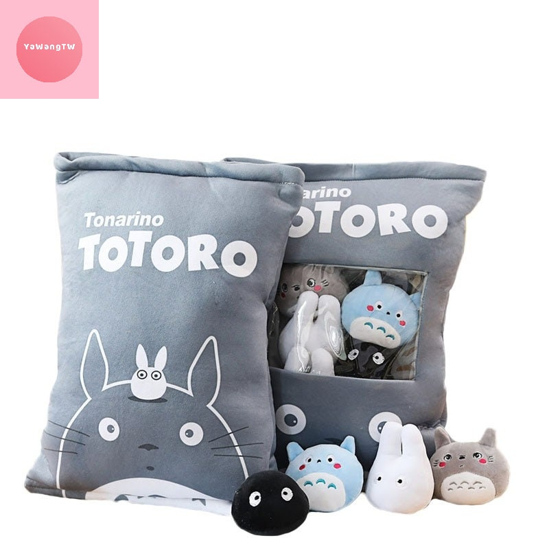 HOT a bag of totoro plush toys 8 pcs plush my neighbour totoro | Etsy