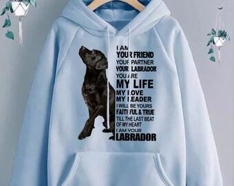 I love coeur mon labrador enfants sweat à capuche