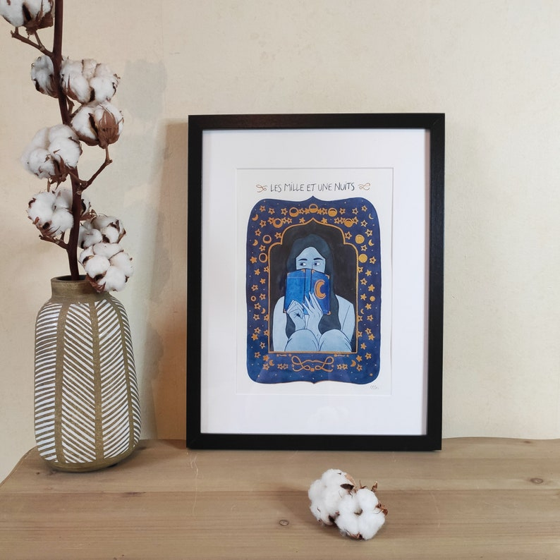 The Thousand and One Nights watercolour illustration 21x30 image 0