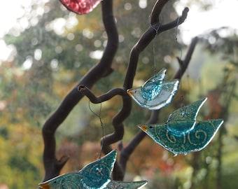 Birds of Glass   Window decoration   Glass Art   Unique
