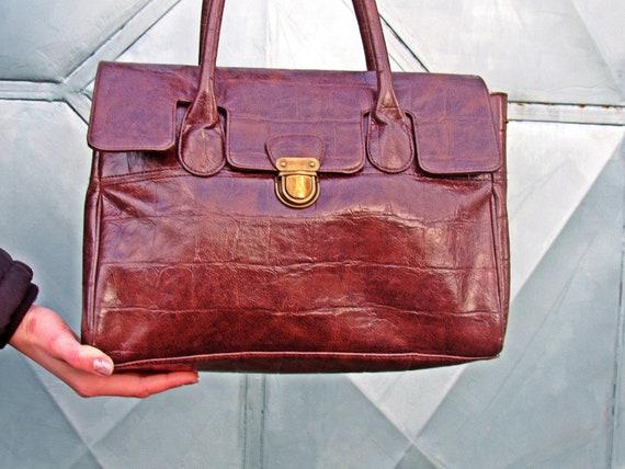 Bag, Genuine Leather Bag, Dark Brown Leather Bag,
