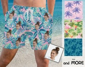 Custom Face Swimwear, Personalized Men Bathing Suit, Face on Surf Trunk, Swim Trunk with Face, Custom Board Short, Father 39 s Day Gift,for Dad