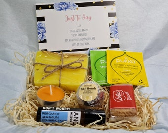 Personalised Birthday Gift for Best Friend Citrus Spa Gift Box Self Care Pamper Set   Cheer Up Roll-on Essential Oil Hug in a Box