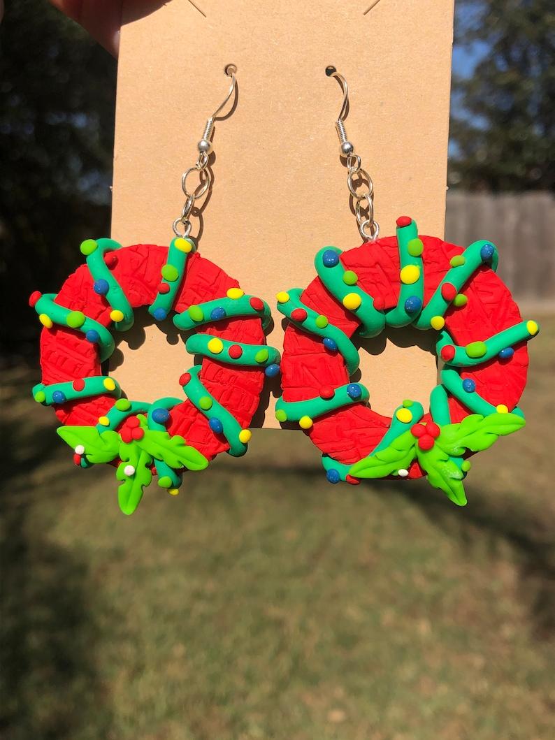 Christmas Wreaths Earrings