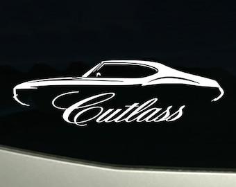 1969 Hurst Olds 442 Cutlass Classic Garage Sign Wall Art Graphic Sticker