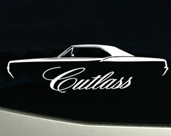 1966 Cutlass 442 Convertible vintage car decal sticker wall mural