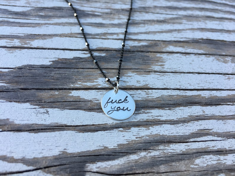 Fuck You Charm Necklace