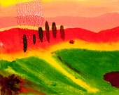 Greetings Card - Tuscany