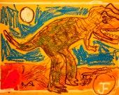 Greeting Card- Dinosaur Still Life