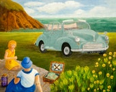 Greetings Card - Picnic with Molly