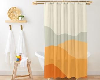yellow shower curtain etsy