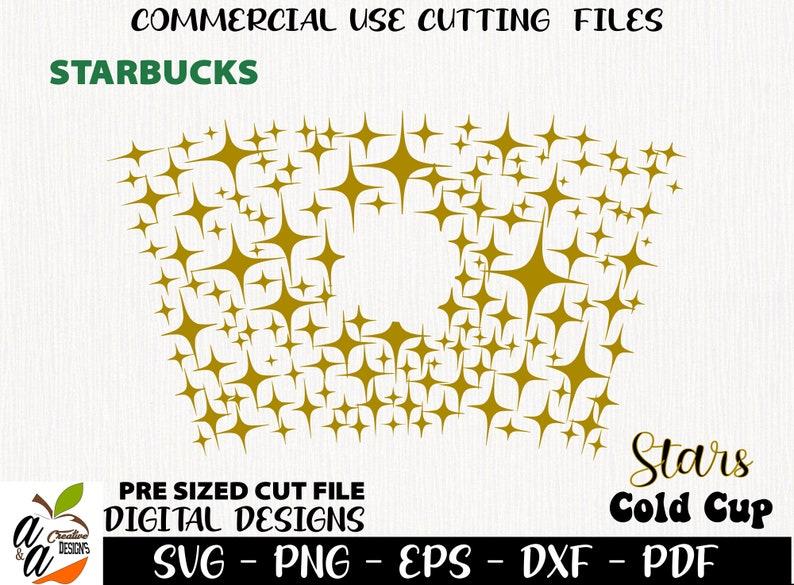 Merry Christmas Starbucks svg pdf Stars svg dxf Cricut Cut File Digital Download Stars png Starbucks Cold Cup svg eps