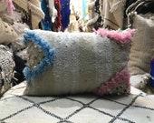 Moroccan Wedding Blanket Pillow, Handmade pillow, Handira Moroccan Cushion, Authentic cushion Handmade, Wedding cushion, Trow pillow