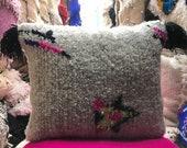 Handmade pillow, Beni Ouarain, Moroccan Cushion, Authentic cushion, Pillow