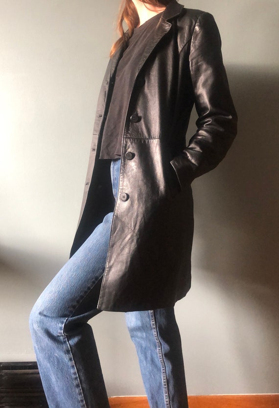 Iconic Leather Trench