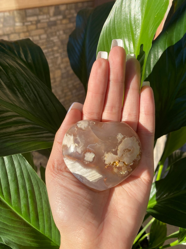 Flower Agate Crystal Towers Chakra Healing Crystal Madagascar Spiritual Gemstone Natural Cherry Blossom Agate Point Flower Agate
