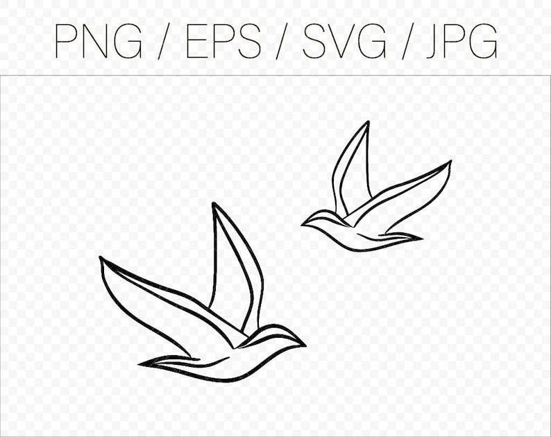 Bird Svg files for cricut Birds svg Bird silhouette Flying bird svg Flying birds cut files Bird cut file Simple bird vector Bird png