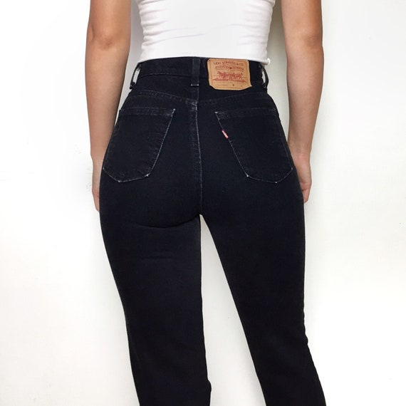 Vintage Levi's 512 black high waisted jeans size 2