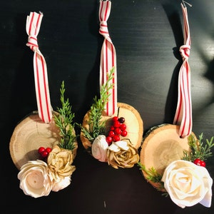 Rustic OrnamentsChristmas OrnamentsSola Wood Flower OrnamentsWood Ornaments