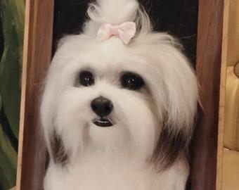 Custom Needle Felted Pet portrait, pet portrait, Pet Memorial,Pet Loss Gift, Felted Animals,Christmas Gift,Christmas Decoration