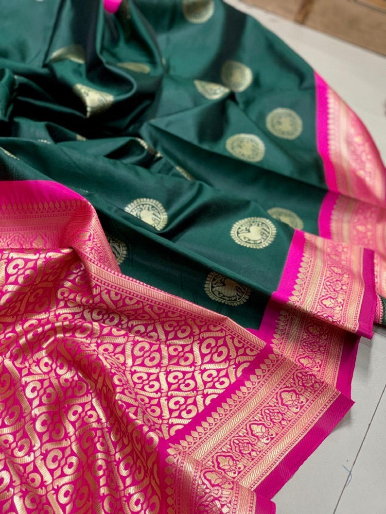 GREEN Color Designer Bold And Beautiful Saree Indian Traditional Saree Bollywood Style Exclusive Party Wear Soft Silk Saree