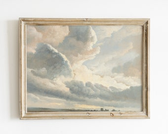 Cloud Painting Art Print 12 x 16 Oil Painting Cloud Art by Read Pate Portland Artist Landscape Painting