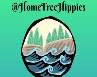 Home Free Hippies Sticker