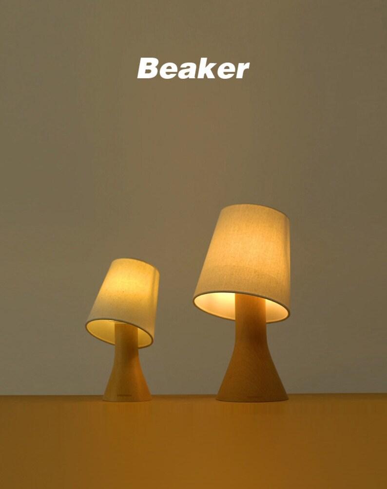 Beakers table lampbeaker night lightBurlap image 0