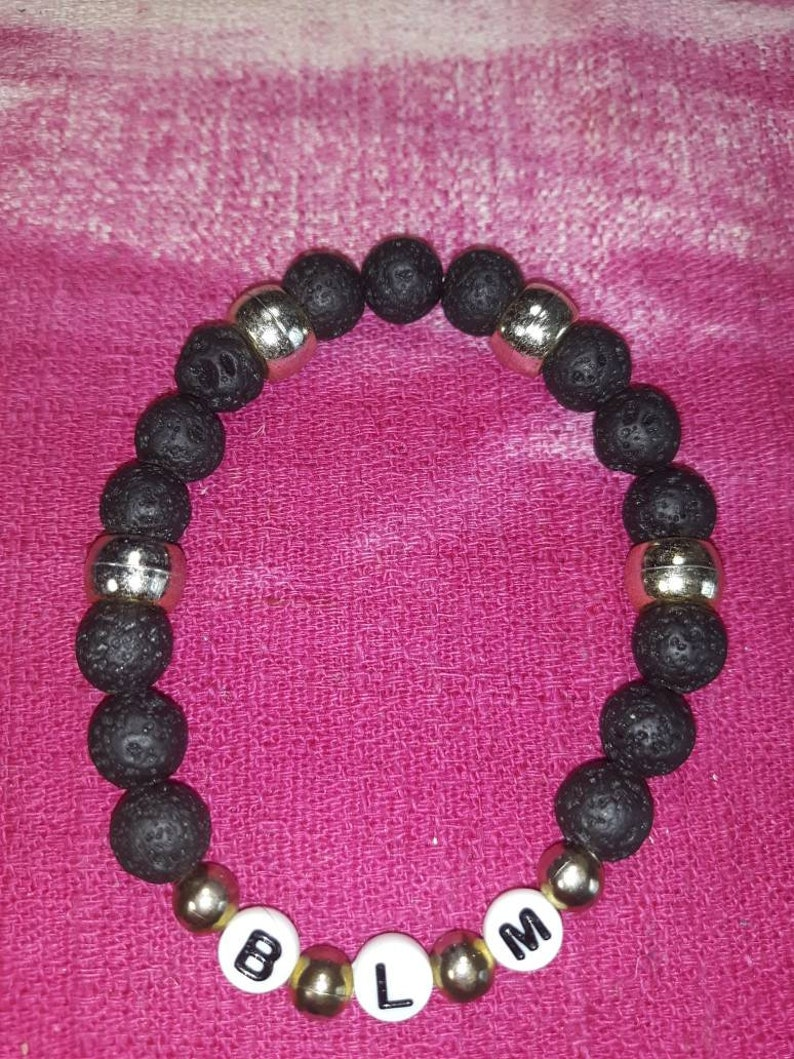 BLM Lava bead bracelet