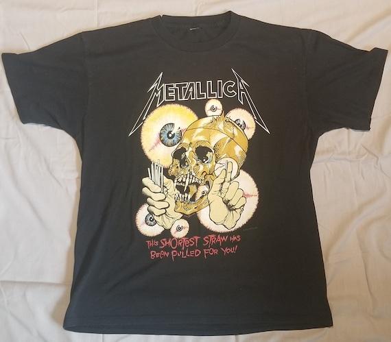"Vintage Metallica ""The Shortest Straw"" Concert Tsh"