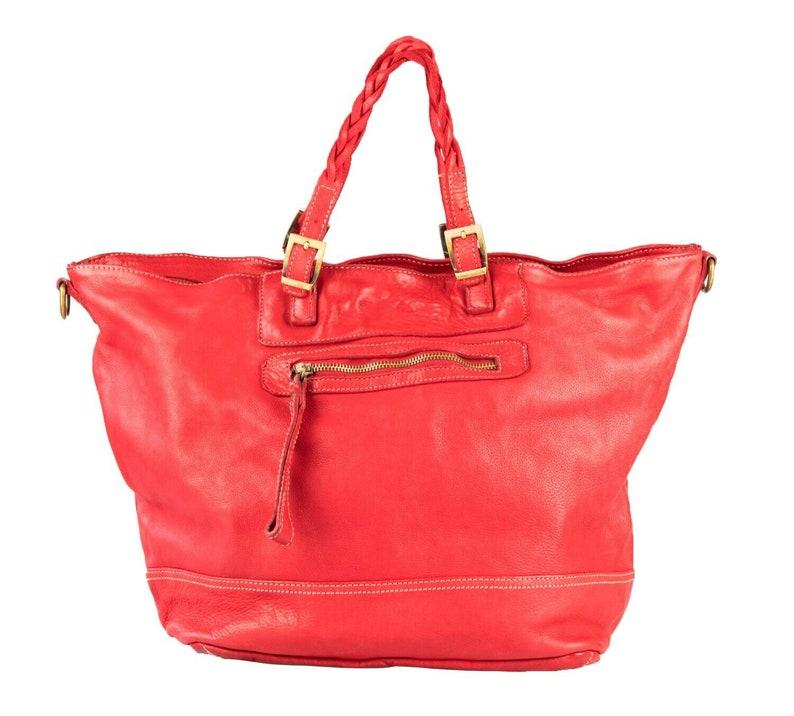 BZNA Bag Nikita Red Italy Designer Women/'s Handbag Leather Bag Bag Shopper