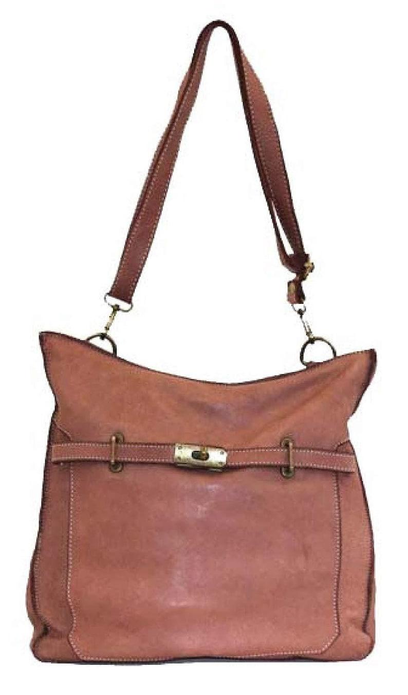 BZNA Bag Salma Pink Italy Designer Women/'s Handbag Leather Bag Shoulder Bag Leather Shopper New
