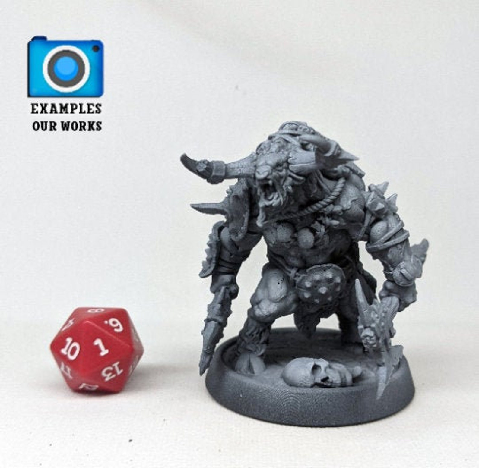 3D Print of NEW - Wyvern - 32mm scale miniature - Large