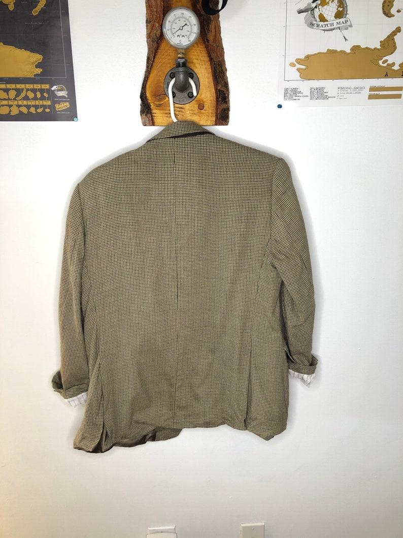 Vintage houndstooth wool blazer